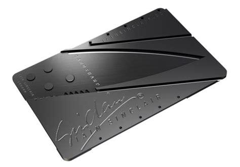 pocket knife card cardsharp credit card shaped pocket knife gadgetsin