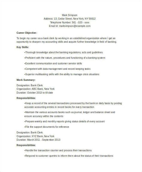 format of resume for bank po 52 resume format sles sle templates