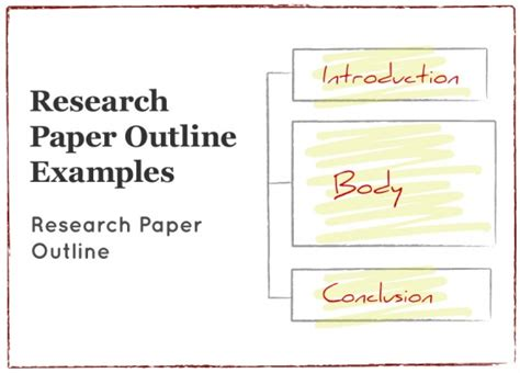 exle of research paper with complete parts research paper outline exles