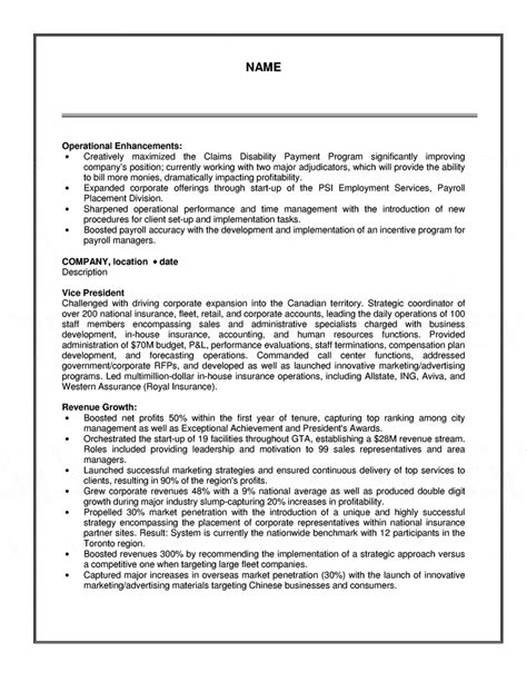 Resume Sles Operations Executive Sales Operations Resume