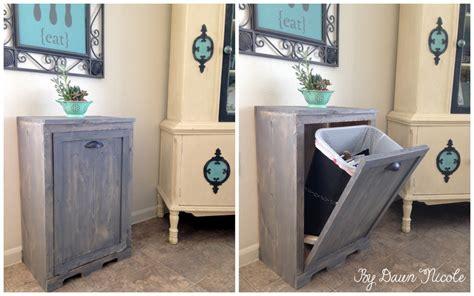 tilt out trash can cabinet 10 diy furniture makeovers