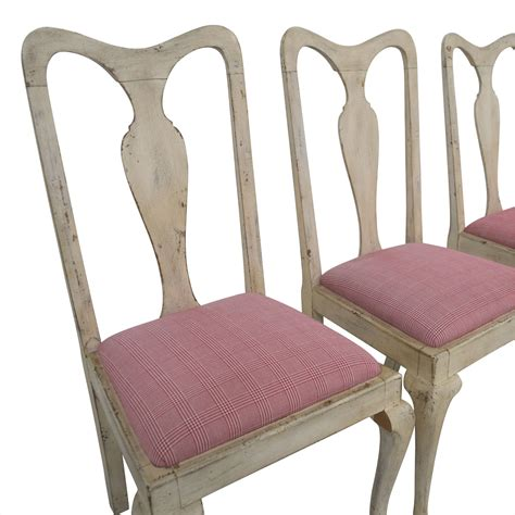 distressed antique white dining chairs 90 antique distressed white with plaid