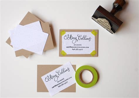 rubber st business cards diy rubber st calling cards