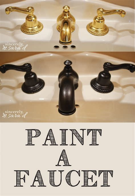 Painting Faucets by How To Paint A Faucet Sincerely D