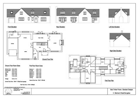 chalet bungalow floor plans twyford 4 bedroom chalet design solo timber frame