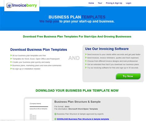 business plan template free image free business plan template