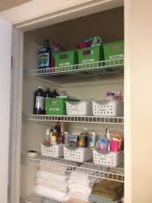 bathroom closet ideas bathroom closet organization tips organized for life