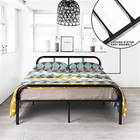 Metal Bed Frame No Boxspring Needed Greenforest Size Bed Frame Stable Metal Slat Support No Boxspring Needed With Headboard