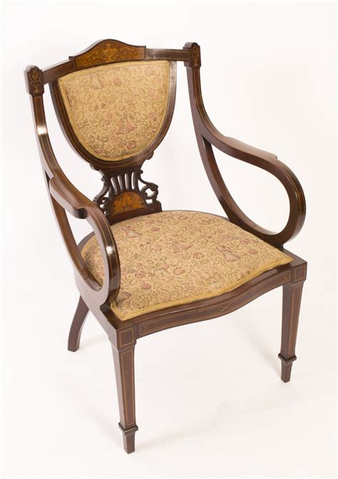 Edwardian Armchairs by Regent Antiques Armchairs And Desk Chairs Armchairs