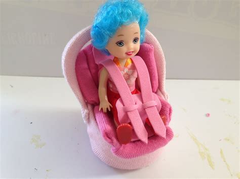 barbie cars with back seats how to make a baby doll car seat youtube