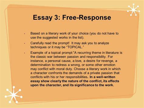ap literature free response sle essays economics homework help assignment help ap