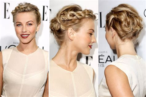 how to the famous julianne hough updo stylenoted beatnik braid