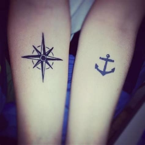 compass tattoo for siblings 25 best brother sister tattoo images on pinterest