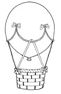 Hot Air Balloon Coloring Page sketch template