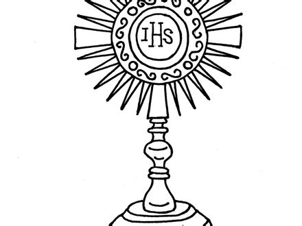 catholic monstrance coloring sketch coloring page