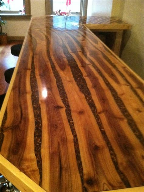 log bar tops rustic resin tops bars coffee tables ohio valley