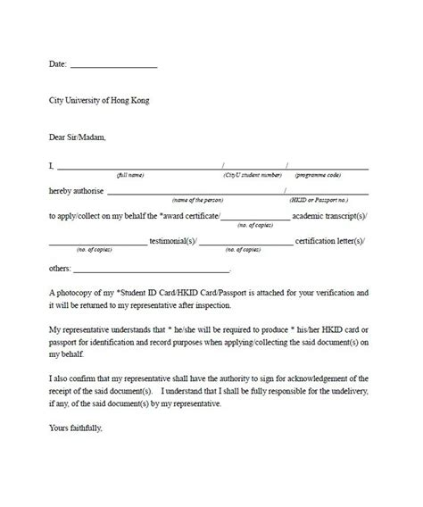 Authorization Letter Representative 46 Authorization Letter Sles Templates Template Lab