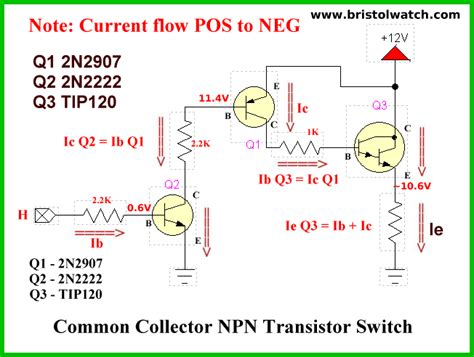 npn transistor relay circuit npn only transistor h bridge circuits