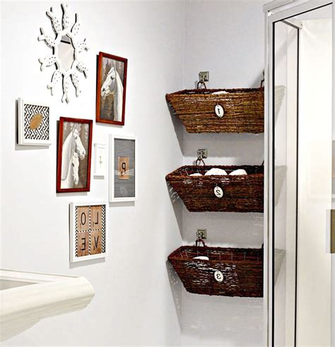 Bathroom Towel Storage Baskets 21 Ideas For A Small Bathroom Remodel Decorative Painting Basket Storage White Wall Bathroom