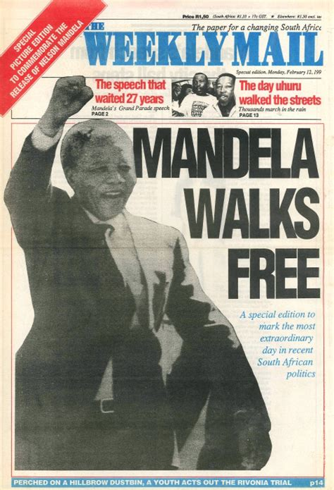 africa news news and headlines from south africa egypt a look back at newspaper reports on mandela s release 25