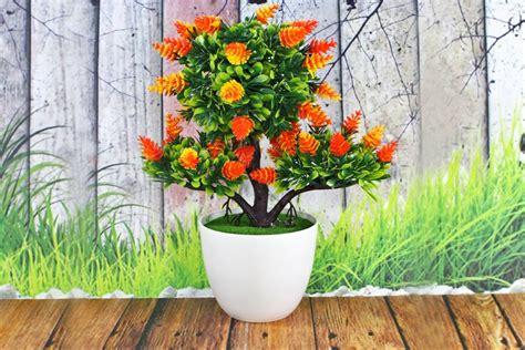 jual pot tanaman hias bunga orange unik  lapak huzora