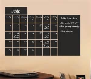 Calendar Wall Sticker Large Chalkboard Calendar Vinyl Wall From Householdwords