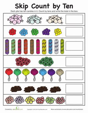 skip counting by 10 worksheets worksheets education