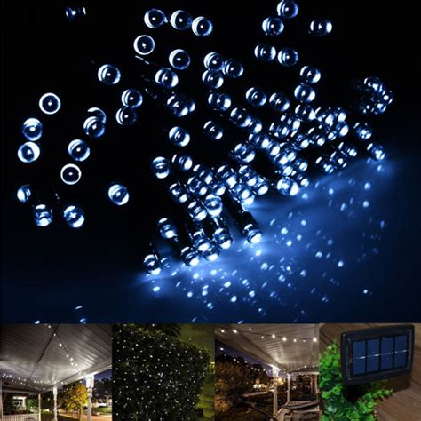 Solar Panel String Lights 100 200 Led Solar Powered Panel Bright String Lights