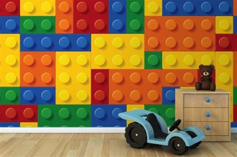 colourful building blocks wall mural rooms plastic