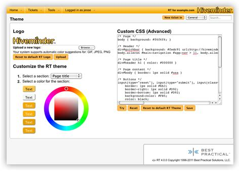 themes advanced editor template js what s new in 4 brand rt with your own custom theme