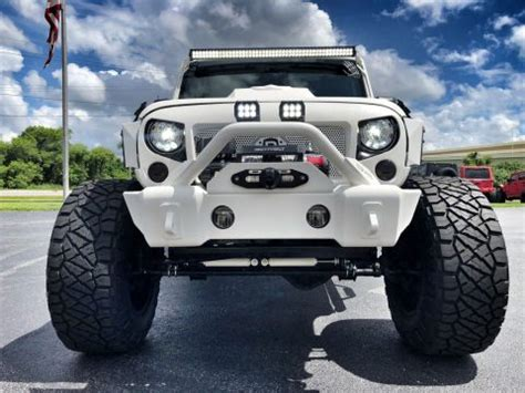 badass white jeep wrangler trophy truck 1963 international harvester scout 80