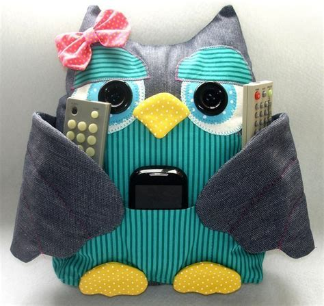 pattern for owl remote holder how to diy cute fabric owl pillow with free pattern