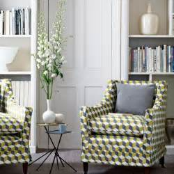 Arm Chair Living Room Design Ideas Living Room With Geometric Print Living Rooms Upholstery Housetohome Co Uk