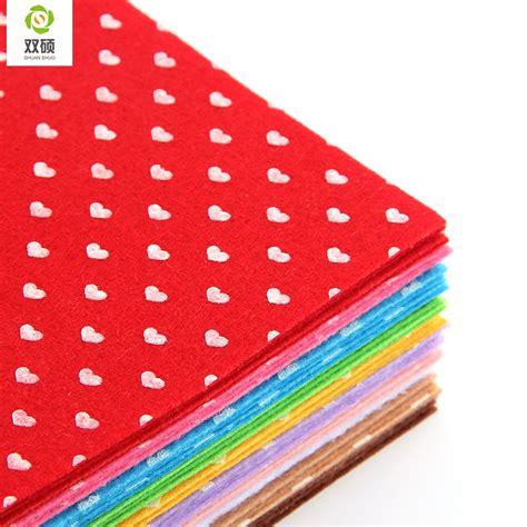 Printable Felt Fabric | print heart polyester felt fabric cloth diy handmade