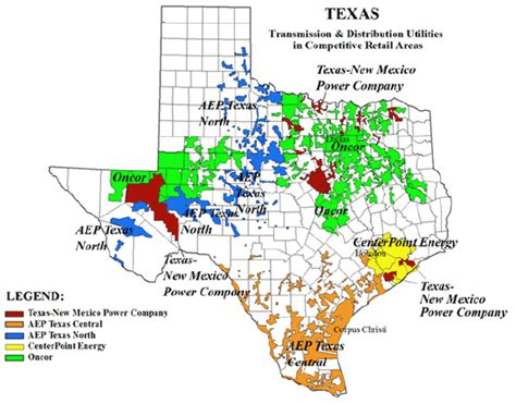 texas deregulation map texas energy deregulated cities texas choice energy
