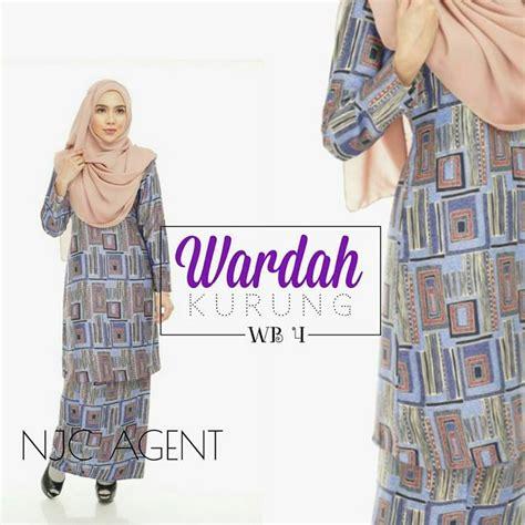 baju kurung moden yang loose baju kurung moden wardah kod wb saeeda collections