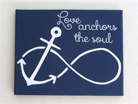 Popular Items For Love Anchors - painted custom love anchors the soul canvas gift infinity