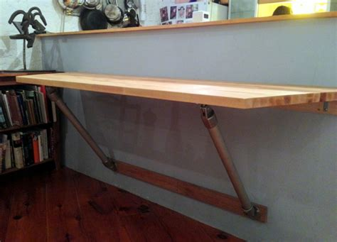 kitchen table wall mounted wall mounted butchers block table