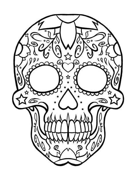 color skull tattoo designs printable coloring pages of skulls az coloring pages