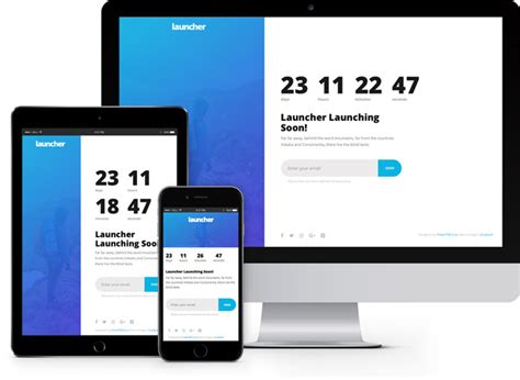 Launcher Simple Coming Soon Html5 Bootstrap Template Freehtml5 Co Bootstrap Email Template Free