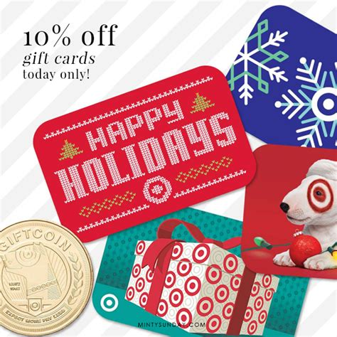Target Red Card Discount On Gift Cards - 10 off target gift card today only minty sunday