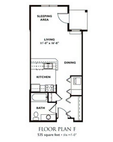Best Retirement Home Floor Plans by Narrow Studio Apartment Floor Plans Thefloors Co