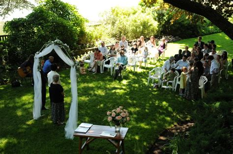 small backyard wedding ceremony ideas real weddings natalie and s magical garden wedding