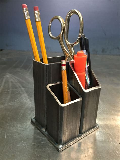 diy steel projects desk organizer by yanick bluteau metal project by yanick