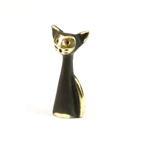 Cat Figurine walter bosse brass cat figurine katze modern vienna