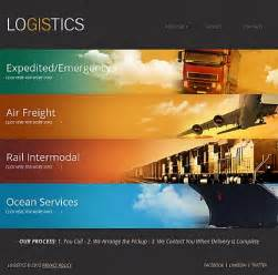 logistics transportation facebook html cms template
