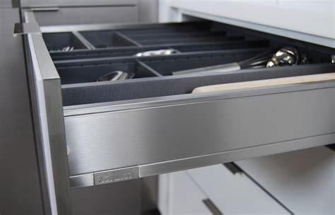 Metal Drawers For Kitchen Cabinets by New Stainless Steel Drawers And Roll Out Shelves Kitchen