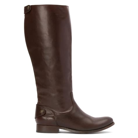 frye boots wide calf lyst frye button wide calf boot in brown