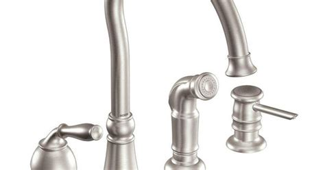 moen lindley kitchen faucet moen lindley single handle side sprayer kitchen faucet in