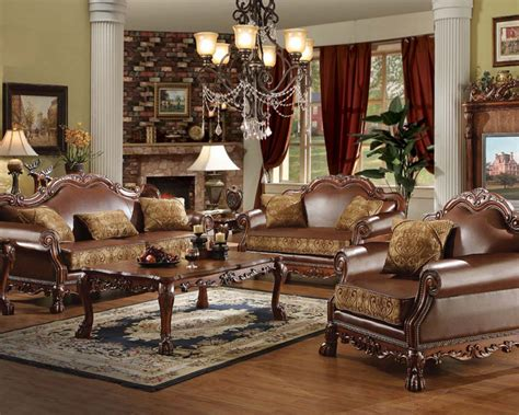 sofa set traditional living room los angeles by traditional sofa set dresden by acme furniture ac15160set